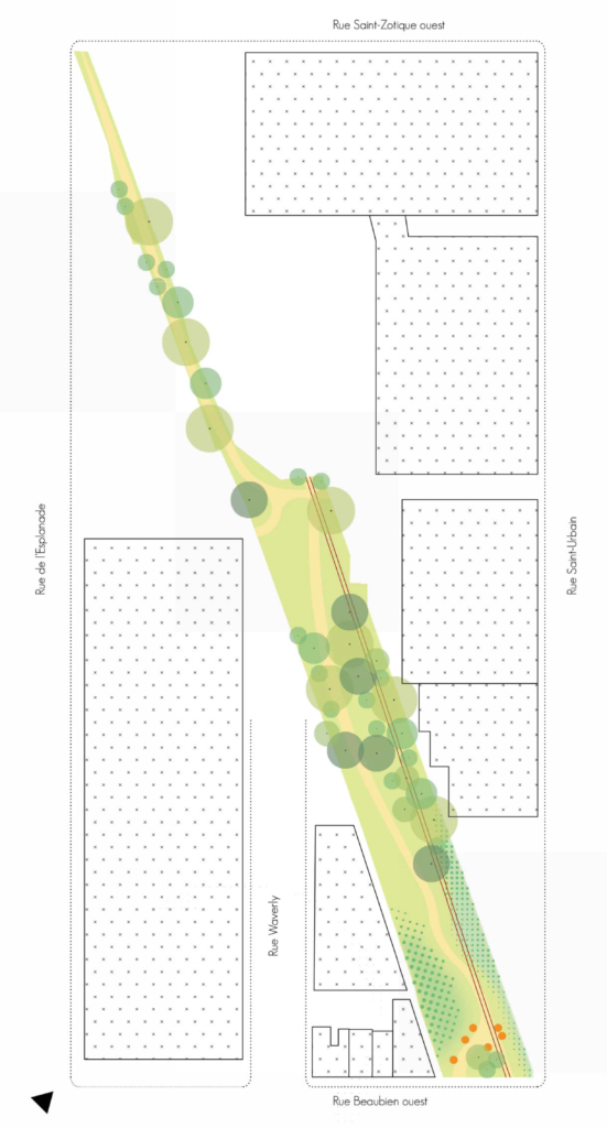 Vue aérienne de la proposition d'aménagement proposée par les AmiEs du parc des Gorilles.