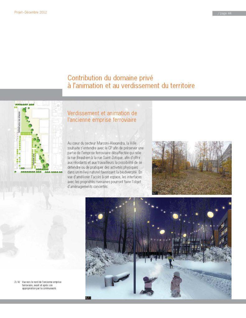 Extrait du projet de rapport du PDUES soumis à la consultation publique de l'OCPM en décembre 2012.